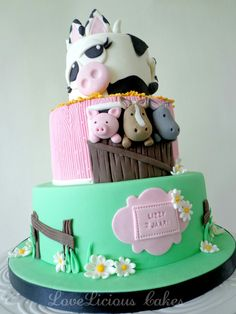 Farm cake  www.loveliciouscakes.nl