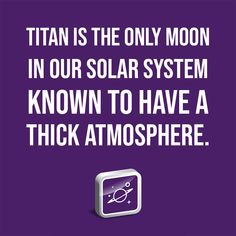 Titan is the only moon in our solar system known to have a thick atmosphere. Institute For Creation Research, Saturns Moons, Planetary Science, Our Solar System, Astrophysics, Look Younger, Discovery, Evolution