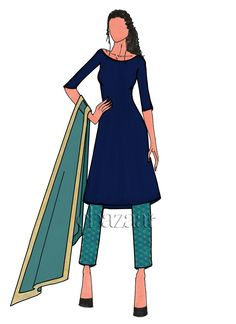 Buy online Salwar Kameez for women at Cbazaar for weddings, festivals, and parties. Explore our collection of Salwar suits with the latest designs. Diy Fashion Dresses, Suit Fashion, Salwar Kameez Online, Indian Salwar Kameez, Punjabi Suits, Salwar Suits, Latest Salwar Suit Designs, Dress Drawing, Fashion Design Sketches