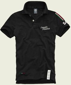 MM001 Atlantica - black  100% Made in Italy  Certified Original Italian Product  100% Cotton  Piquet - 210 gr. sq./mt.  Vintage Aviation Department  £59
