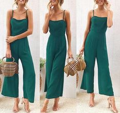 New 2018 Summer Wide Leg Jumpsuit Women Sexy Spaghetti Strap Square Neck Slim Waist Rompers Casual Beach Party Slim Overalls Red Jumpsuit, Jumpsuit Outfit, Casual Jumpsuit, Strapless Romper, Strapless Jumpsuit, Printed Jumpsuit, Rompers Women, Jumpsuits For Women, Women's Rompers