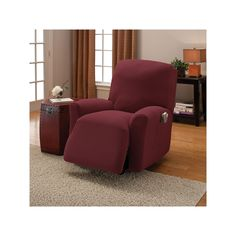 Crossroads Stretch Recliner Slipcover, Red, Durable