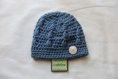 Blue baby boy hat