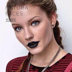 #naturafaces #blacklipstick #goticmakeup
