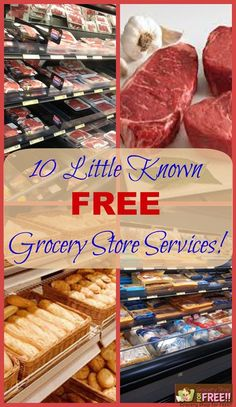 Many people don't realize that your grocery store may offer many :fr: services that they don't know about! Over the years I have learned of many FREE services my stores offer...