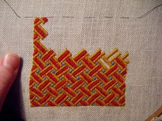 A wonderful and original german brick stitch embroidery from Sarah W. (A Most Peculiar Mademoiselle)