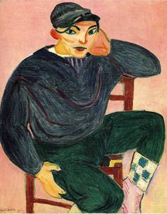 The Young Sailor II, 1906, Henri Matisse Size: 100x81 cm Medium: oil on canvas
