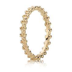 Pandora Floral Elegance Gold Ring