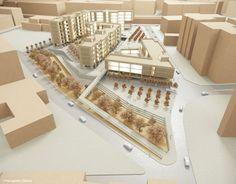 Urban Design Proposal in Perissos, Nea Ionia, Attiki, Greece - 3d Model.