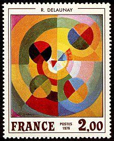 Robert Delaunay «La joie de vivre» - Timbre de 1976 Robert Delaunay, Sonia Delaunay, Timbre Collection, Going Postal, Postage Stamp Art, Principles Of Design, Vintage Stamps, Small Art, Penny Black