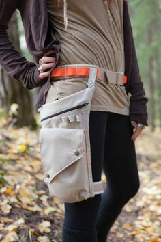 Earth worker Pocket Belt and Leg Strap Utility Bag with Orange accents-consciouslyaltered