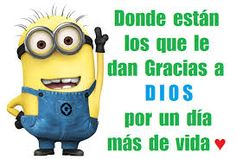 Resultado de imagen para imagenes Minions, Internet, Fictional Characters, Frases, Giving Thanks To God, Disney Characters, Messages, Pictures, The Minions