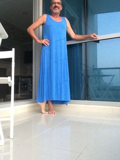 Very soft jersey all day dress Men Wearing Dresses, Day Dresses, Summer Dresses, Trends, Rock, Shorts, Types Of Fashion Styles, Rompers, How To Wear