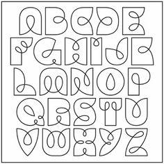 Alphabet to Zentangle Inside!