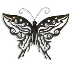 Large Decorative Metal Butterfly Garden Wall Art Black / Brown Finish Garden  Ornaments U0026 Accessories #