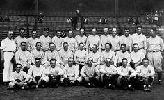 Murderer's Row was the nickname given to the hard-hitting 1927 Yankees. The lineup  included Earle Combs, Mark Koenig, Babe Ruth, Lou Gehrig, Bob Meusel, Tony Lazzeri, Joe Dugan, John Grabowski and pitcher Waite Hoyt