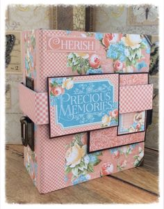 Graphic 45 Mini Album 'Precious Memories' from the Tim Holtz tutorial b...