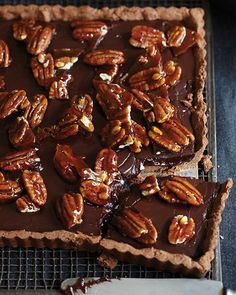 Chocolate & Pecan Tart via Sweet Paul
