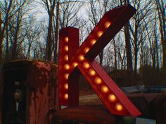 K marquee letter