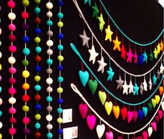 Star Garland in Rainbow colours hand crafted from NZ felt long) Babies Rooms, Metal Garden Art, Rainbow Colours, Star Garland, Play To Learn, Bar Signs, Beach House Decor, Soy Candles, Baby Kids