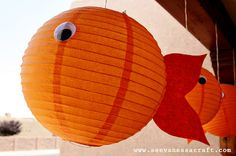 gold fish decor- use blue and red rather than orange to go with nautical theme