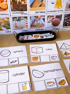 Make learning about shapes fun with these hands-on sorting mats! Using real life images, children need to match the cards to the shape. Perfect for independent math centers and morning math tubs in kindergarten and first grade 3d Shapes Activities, Sorting Activities, Hands On Activities, Brag Tags, Martin Luther King, 3d Shapes Kindergarten, Foundation Maths, Party Girlande, Printable Shapes