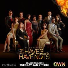 """OWN's season two premiere of the Tyler Perry drama """"The Haves and the Have Nots"""" on Tuesday night (Jan. 7 at 9 p. ET/PT) delivered record numbers, earning million total viewers and becoming the season premiere in OWN history across all key demos. Tyler Perry Tv Shows, Tyler Perry Movies, Great Tv Shows, New Shows, Movies Showing, Movies And Tv Shows, Black Tv Shows, Tv Ratings, Season Premiere"""