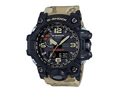CASIO G-Shock Master In Desert Camouflage GWG-1000DC-1A5. Case / bezel material: Resin / Stainless steel. Resin Band, Mud Resistant, Neobrite, Screw Lock Crown. Vibration resistant, Shock Resistant. Sapphire Glass with non-reflective coating. 200-meter water resistance.
