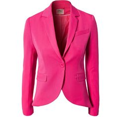 Only Evita Update Tight Blazer ($62) ❤ liked on Polyvore featuring outerwear, jackets, blazers, coats, casacos, coats & jackets, pink, womens-fashion, pink blazer and only jackets