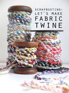 handmade scrap fabric twine.