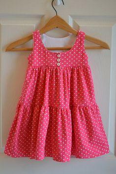 Baby Girl Frocks, Frocks For Girls, Toddler Girl Dresses, Little Girl Dresses, Baby Dresses, Peasant Dresses, Toddler Girls, Baby Girls, Girls Dresses