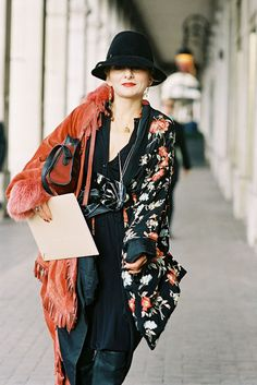 I love the hat - stylist Catherine Baba