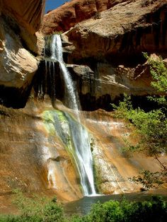 5.5 mile hike out through the desert to this swimming hole. Lower Calf Creek Falls, Grand Staircase-Escalante National Monument