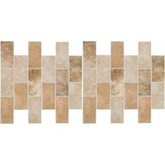 Daltile Grand Cayman Oyster Blend 12 in. x 12 in. x 8 mm Ceramic Brick-Joint Mosaic Floor and Wall Tile-GC9924BWHD1P2 at The Home Depot