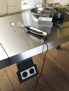 bulthaup kitchen accessory by bulthaup Kitchen Workshop, Kitchen Tools, New Kitchen, Kitchen Stuff, Bulthaup Kitchen, Kitchen Appliances, Kitchen Sinks, Kitchen Island, Space Systems