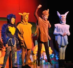 The Forest Animals in A SNOW WHITE CHRISTMAS!  Musical Play for Schools and Kids!