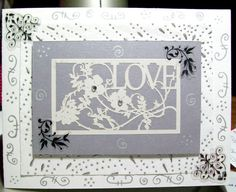 love stencil card. $3.00, via Etsy.com Sold