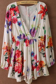 Floral floral patterns, sleev floral, cruise wear, flower prints, floral loos, floral romper, clothing styles, floral dresses, style fashion