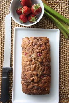 strawberry rhubarb bread
