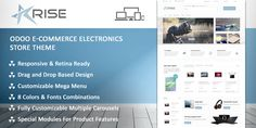 Rise is a modern eCommerce theme for electronics. Rise theme is completely eCommerce oriented and has amendments for complete customization, great user experience and much more.