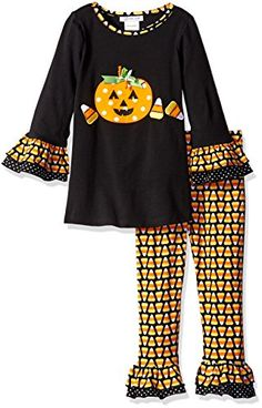 Bonnie Jean Little Girls Candy Corn Appliqued Halloween Legging Set Black 4 >>> You can get more details by clicking on the image.Note:It is affiliate link to Amazon.