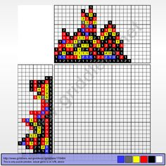 Griddlers Puzzle 178484 Fire Pokemon