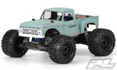 """Now you can have your very own custom """"Hay Hauler"""" with Pro-Line's licensed 1966 Ford® F-100 body!  The '66 F-100 body comes with perfectly scaled details like the step-sides and huge fender flares that will bring you back to the good old days. #prolineracing #ford #builtfordtough Mfg part number 3412-00"""