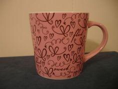 STARBUCKS FLIRT Hearts Coffee Mug Cup Valentine's Gift Large 17 fl oz pink 2006