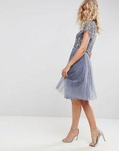 Needle and Thread Tulle Midi Skirt