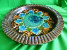 Vintage Sweden TILGMANS Keramik Multi-Colour plate bowl Retro ceramic 1960 -1970