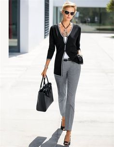 Cardigan, Top, double pack, Sunglasses, Bracelet, Handbag, Belt, Bracelet, Cropped trousers, Necklace