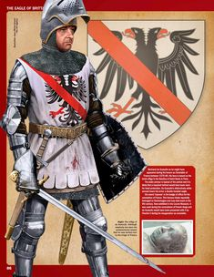 Bertrand du Guesclin (c. AD Breton knight an Constable of France from Medieval Knight, Medieval Armor, Medieval Castle, Medieval Fantasy, Armadura Medieval, Templer, Late Middle Ages, Knight Art, Knight