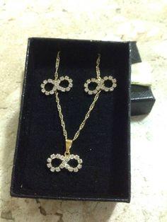 conjunto símbolo infinito  - bijoux