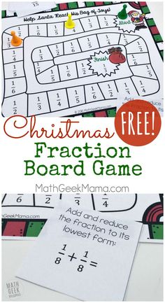 fun easy holiday math activity christmas tree fractions math activities christmas math. Black Bedroom Furniture Sets. Home Design Ideas